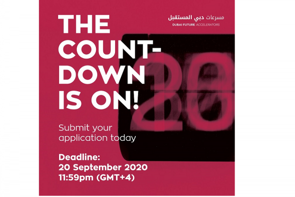 Dubai Future Accelerators Opens Registration for Fall 2020 Program, Invites Applications from International Startups to Address Challenges in a Post COVID-19 World